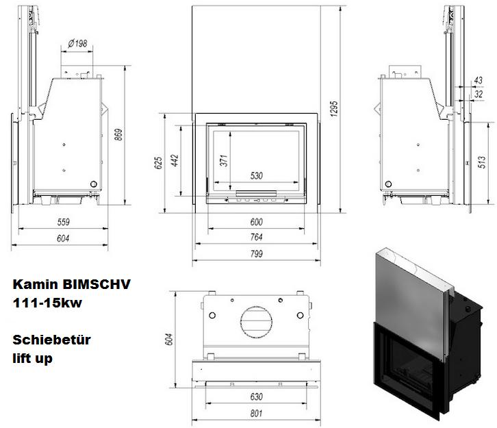 11 15kw kamin kamineinsatz kaminofen wasserf hrend bimschv. Black Bedroom Furniture Sets. Home Design Ideas