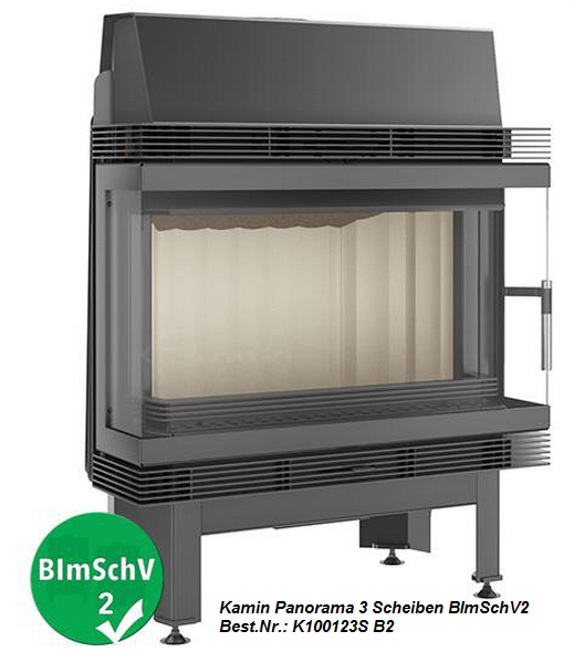 12 kw panorama kamin kamineinsatz kaminofen bimschv 2. Black Bedroom Furniture Sets. Home Design Ideas