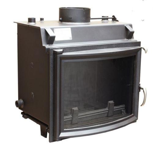 12kw kaminofen kamineinsatz wasserf hrend mit sicherheitsw rmetauscher panoramascheibe. Black Bedroom Furniture Sets. Home Design Ideas
