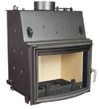 19 kw kaminofen wasserf hrend panorama oder prisma mit vermiculit einlage. Black Bedroom Furniture Sets. Home Design Ideas