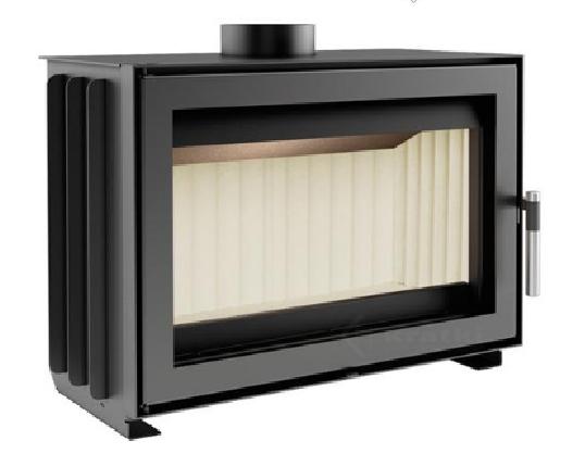 kamin 7kw max 9kw mit riesenscheibe und scheitholzl nge 400mm ebay. Black Bedroom Furniture Sets. Home Design Ideas