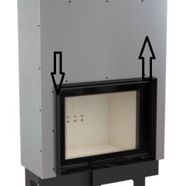 Kaminöfen-Heizeinsätze mit Wassermantel nach BImSchV2 Hebetür